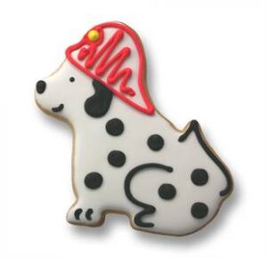 Dalmatian shaped cookie